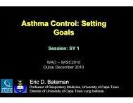 Asthma Control - Setting Goals-Bateman - World Allergy Organization