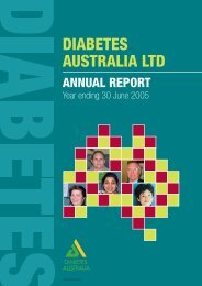 DIABETES AUSTRALIA LTD