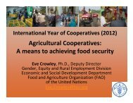 Agricultural Cooperatives: A means to achieving food security