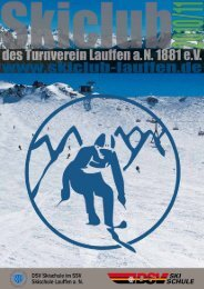 Programmheft 2010/2011 - Skiclub Lauffen