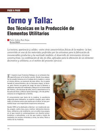 Torno y Talla: - Revista El Mueble y La Madera