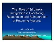 The Role of Sri Lanka Immigration in Facilitating ... - Bali Process