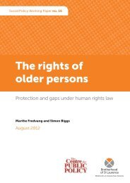 The rights of older persons - Division for Social Policy and ...