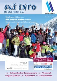 0 0 SKI INFO 2/2010 - SKi-Club Hilden