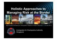 Holistic Approaches to Managing Risk at the Border - Bali Process