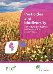 Pesticides and biodiversity - European Crop Protection Association