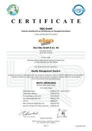 C E R T I F I C A T E - Elbe Holding GmbH & Co. KG