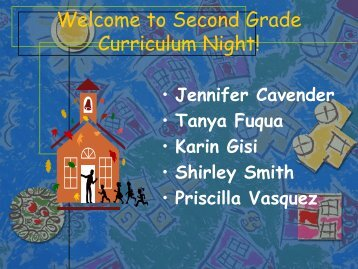 Welcome to Second Grade Curriculum Night! - Lamar Consolidated ...