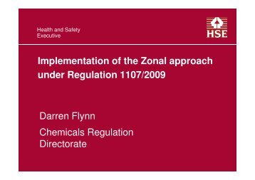 Flynn - Overview on zonal Authorisations and 1107-2009