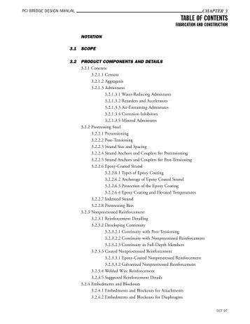 PCI Bridge Manual Chapter 3 - Precast/Prestressed Concrete Institute