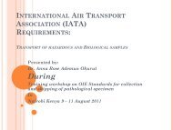 Transport of Hazardous and Biological Samples - OIE Africa