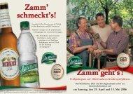 am Samstag, den 29. April und 13. Mai 2006 - Kulmbacher Brauerei ...
