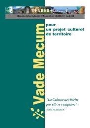 pour un projet culturel de territoire - Réseau Leader