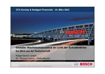 CFA Society & Stuttgart Financials - 14. März 2012