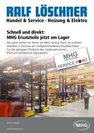 Schnell und direkt: MHG Ersatzteile jetzt am Lager - loeschner-mhg.de