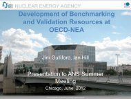 Development of Benchmarking and Validation Resources at OECD ...