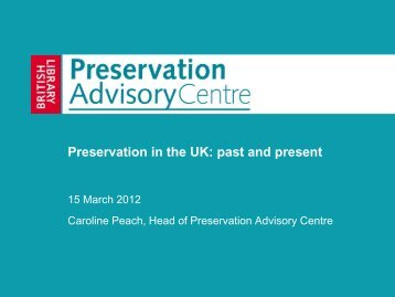 Preservation in the UK: past and present