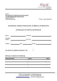 Anmeldeformular Studieren Probieren - Hochschule für katholische ...
