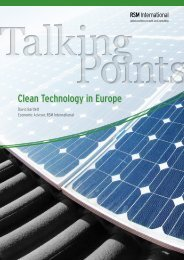 Clean Technology in Europe - RSM International