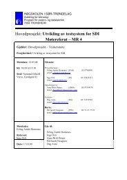 Hovedprosjekt: Utvikling av testsystem for SDI Møtereferat – MR 4