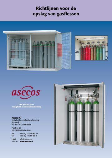 Richtlijnen voor de opslag van gasflessen