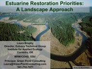 Yaquina estuarine wetlands restoration project