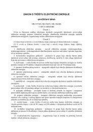 ZAKON O TRŽIŠTU ELEKTRIČNE ENERGIJE ... - HEP Grupa