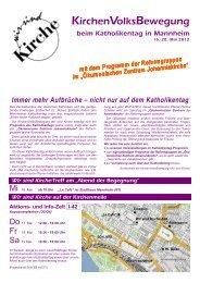 Wir sind Kirche-Folder zum Katholikentag in Mannheim mit dem ...