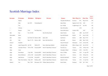 The Scottish Marriage Index