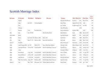 The Scottish Marriage Index
