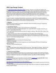 GEA Logo Design Contest - School of Engineering