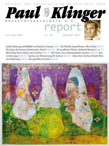 Soziale Sicherung und Mobilität von Künstlern in Europa Seite 4 Der ...