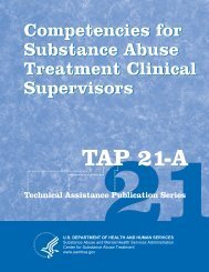 Competencies for Substance Abuse Treatment Clinical Supervisors ...