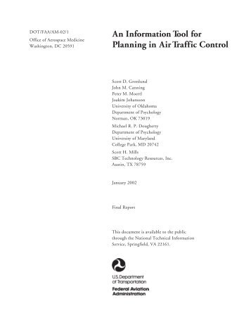 An Information Tool for Planning in Air Traffic Control - FAA Human ...