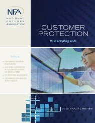 NFA 2012 Annual Review - National Futures Association