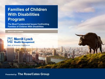 Families of Children With Disabilities Program - Poverty Law Section
