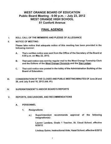 WOBOE Meeting Agenda 2012-07-23 Final - District Home