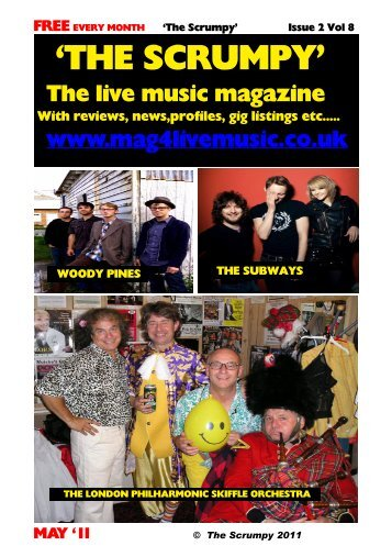 FREE EVERY MONTH 'The Scrumpy' - Mag 4 Live Music