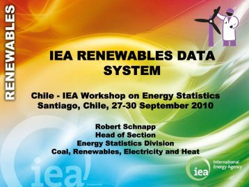 THE IEA RENEWABLES DATA SYSTEM