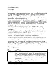 SLOVAK REPUBLIC Introduction In accordance with the ... - eTwinning