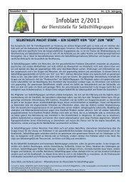 Infoblatt SH 2/11 - Dachverband für Soziales und Gesundheit