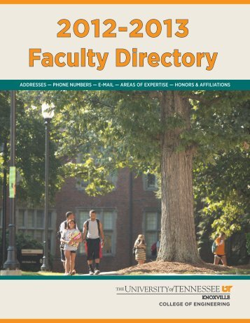 2012-2013 Faculty Directory - College of Engineering - The ...
