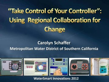 Title of Presentation - WaterSmart Innovations