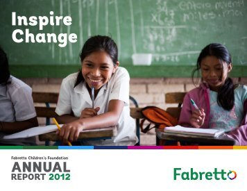 Annual Report - Fabretto Children's Foundation