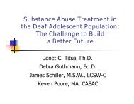 Substance Abuse Treatment in the Deaf Adolescent Population: The ...