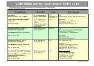 VORTRÄGE mit Dr. med. Ewald TÖTH 2013 - Licht-Quanten