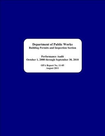 Leading to a potential loss of revenue - The Office of Public ...