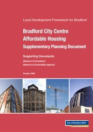 Bradford City Centre Affordable Housing - Bradford Metropolitan ...