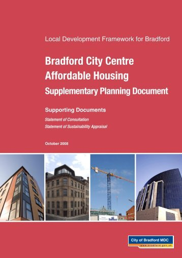 Bradford City Centre Affordable Housing - Bradford Metropolitan ...