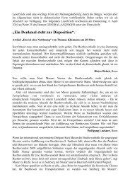 """""""Ein Denkmal steht zur Disposition""""."""